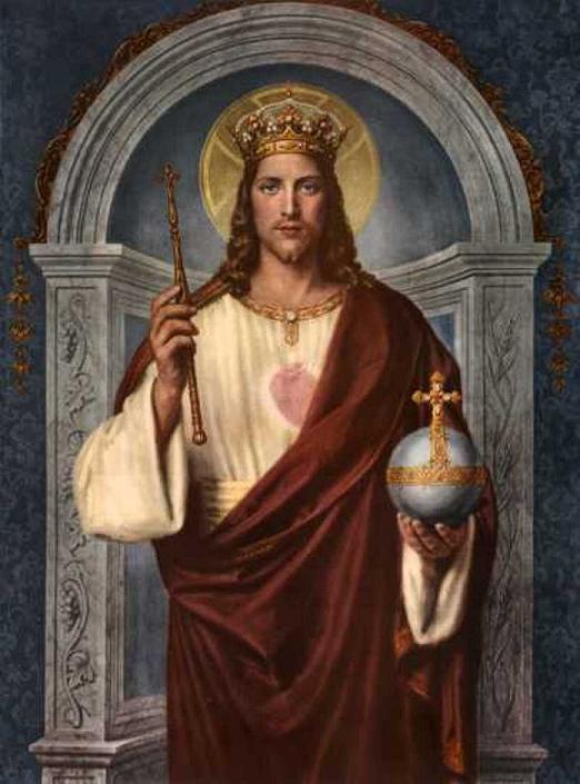 Une représentation du Christ roi de l'univers