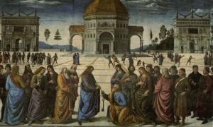Le Pérugin - Jésus remettant les clefs à saint Pierre